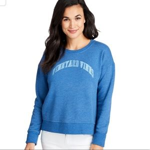 vineyard vines vintage whale crew neck cozy top